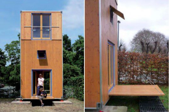 Homebox Tiny Movable 3 Story Shipping Container