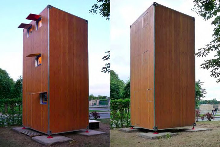 homebox tiny movable 3 story shipping container vertical home architecture for the 99. Black Bedroom Furniture Sets. Home Design Ideas