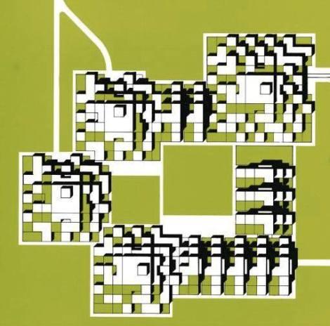 BA building complex Résidence Gradins-Jardins, Champs-sur-Marne. 1962-72 Pierre Parat2