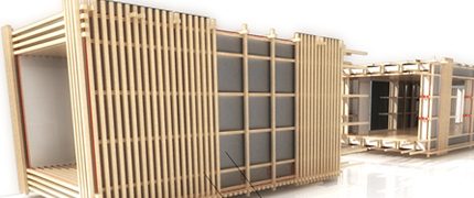 prefab blockwood by gilles guerry rennes fr 1000 m2 architecture for the 99. Black Bedroom Furniture Sets. Home Design Ideas