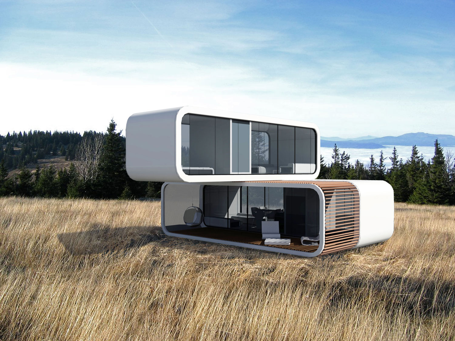 prefab modular living units by coodo germany architecture for the 99. Black Bedroom Furniture Sets. Home Design Ideas