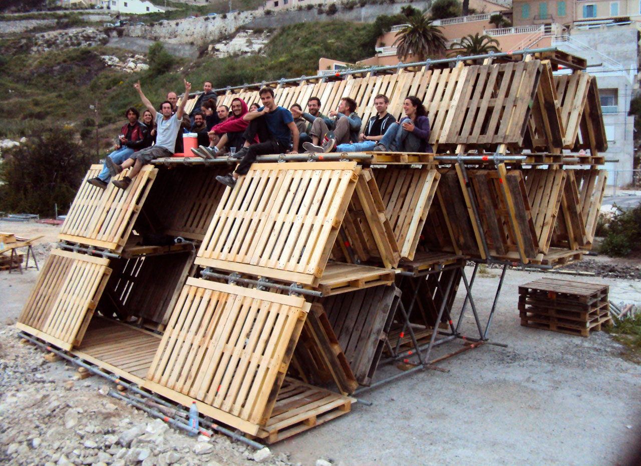 PALLETS HOME TO DIY POP UP CITY HEXA STRUCTURES By BC Studies