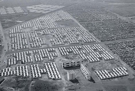 Casablanca's Carriere Centrale housing developments in 1952