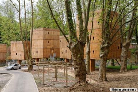 BA pavillon bois social housing Hautes sur pattes BAYONNE