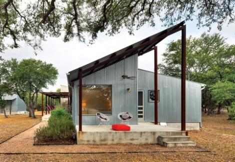 Austin, Texas, architect Nick Deaver galvanized metal cladding dwell