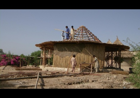Yasmeen Lari A-Disaster-Risk-Reduction-Centre-being-built-in-a-village-in-Sindh-where-villagers-will-prepare-for-emergencies-like-floods